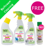 Alma Win Certified Organic Household Cleaner - Bathroom Special Pack with free trial cleaner